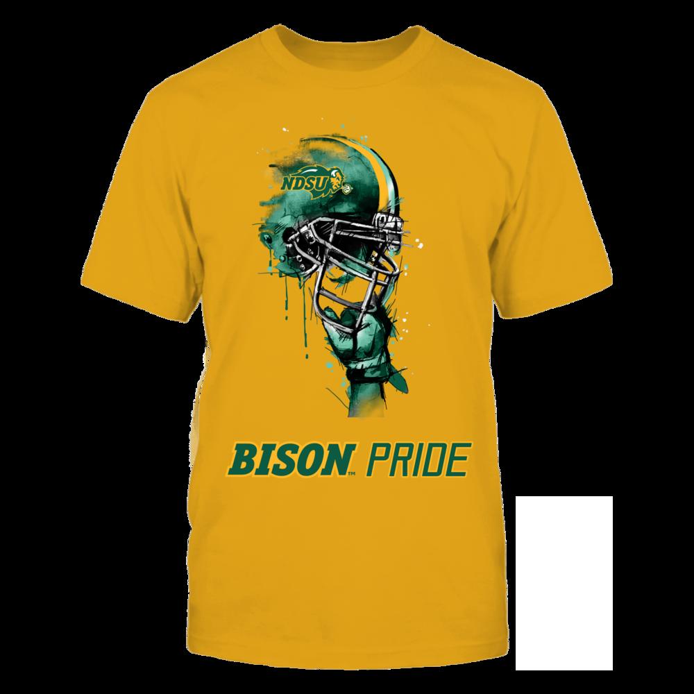 North Dakota State Bison - Rising Helmet Yellow Shirt Front picture