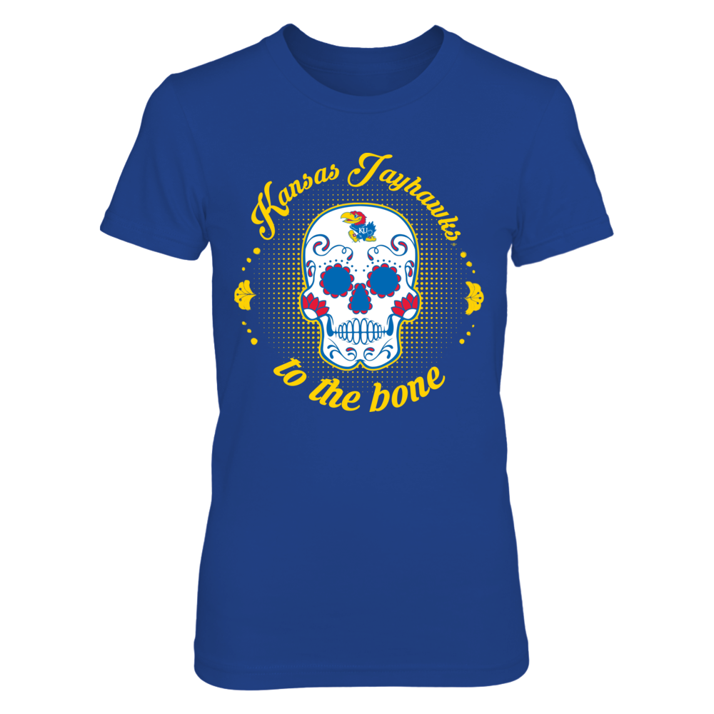 Kansas Jayhawks - To The Bone Sugar Skull Front picture
