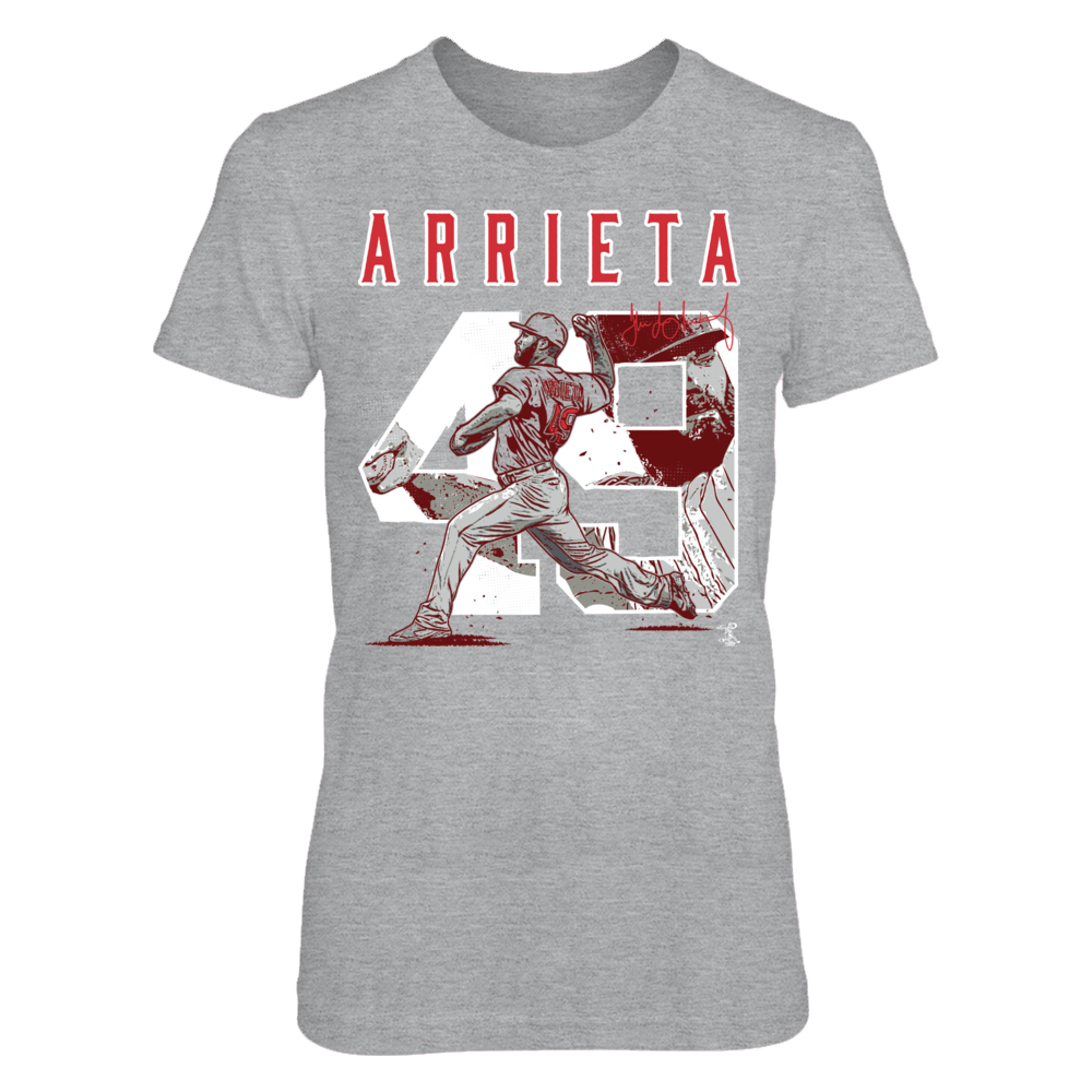 Player Number - Jake Arrieta Front picture