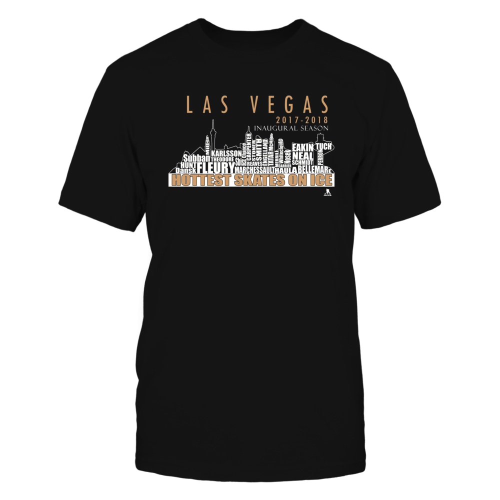 Las Vegas Hockey Team Roster - Golden Knights Team Shirt, Inaugural Season, 2017- 2018 Front picture