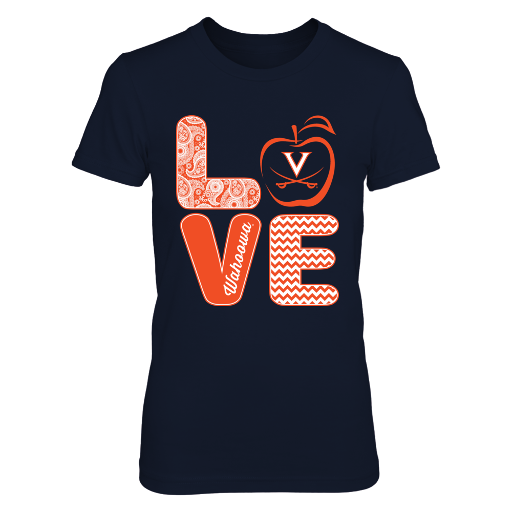 Virginia Cavaliers - Stacked Love - Teacher Front picture