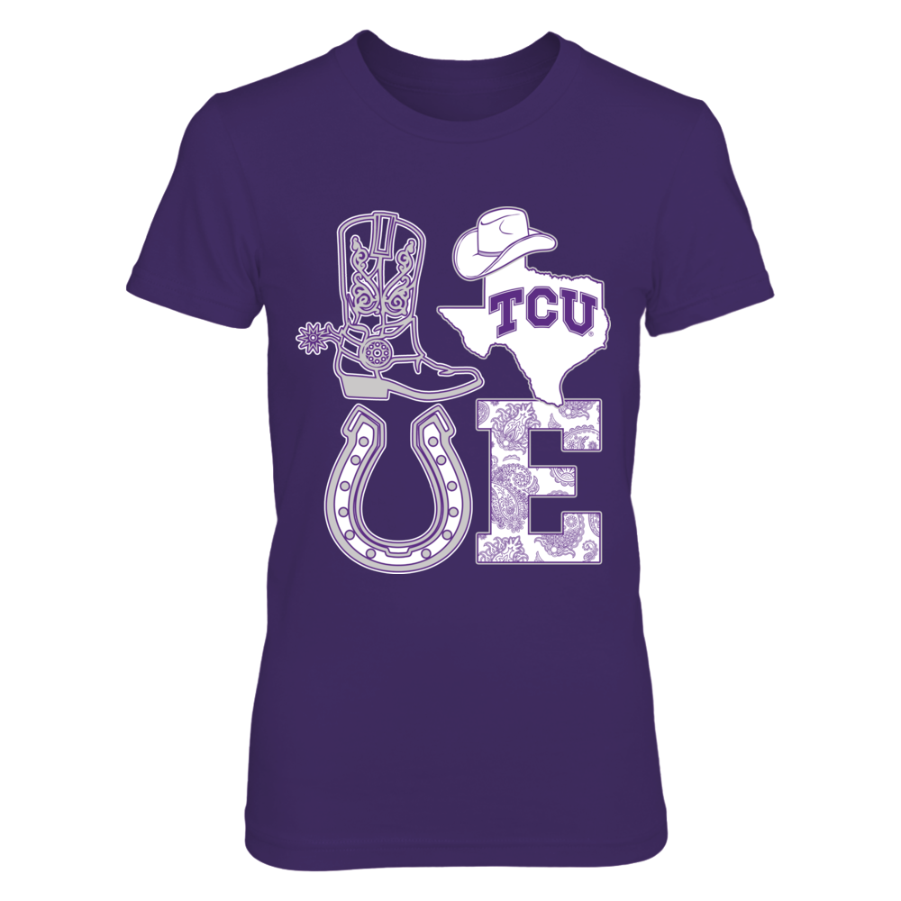 TCU Horned Frogs - Stacked Love - Texas Things Front picture