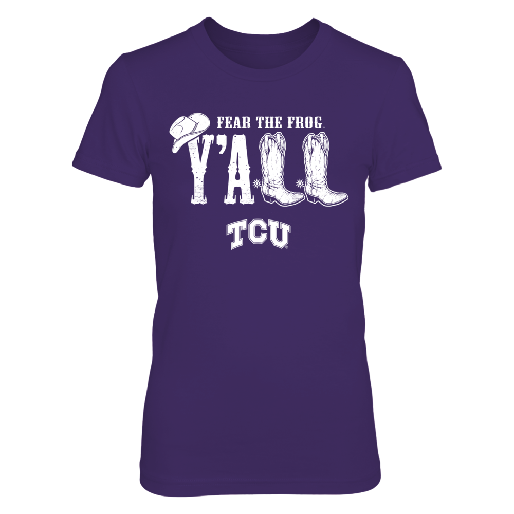 TCU Horned Frogs - Y'all Boots Front picture
