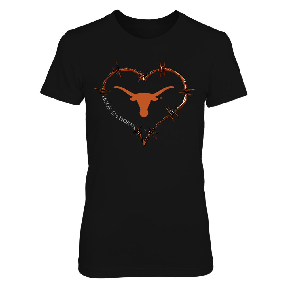 Texas Longhorns - Barbed Wire Heart Front picture