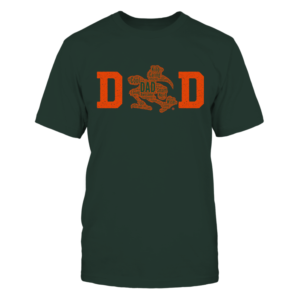 Miami Hurricanes - Dad Logo Cloudtext Front picture