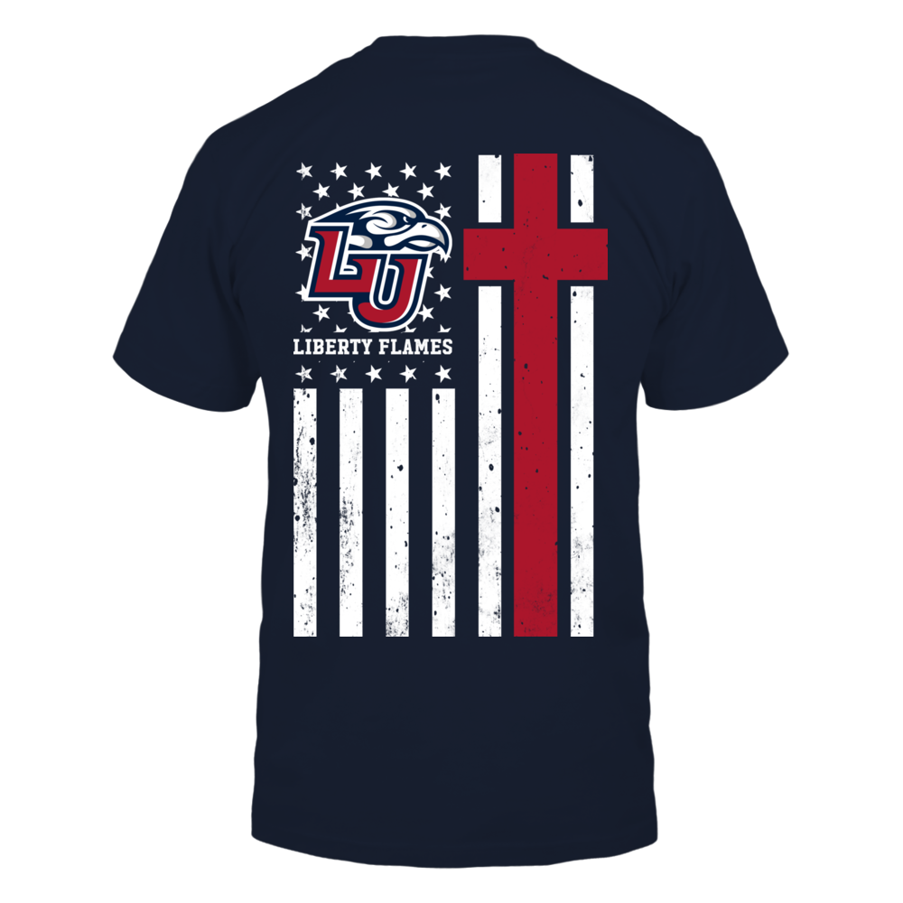 Liberty Flames - Christian Flag Back picture