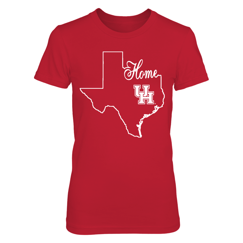 Houston Cougars - Home With State Outline Front picture