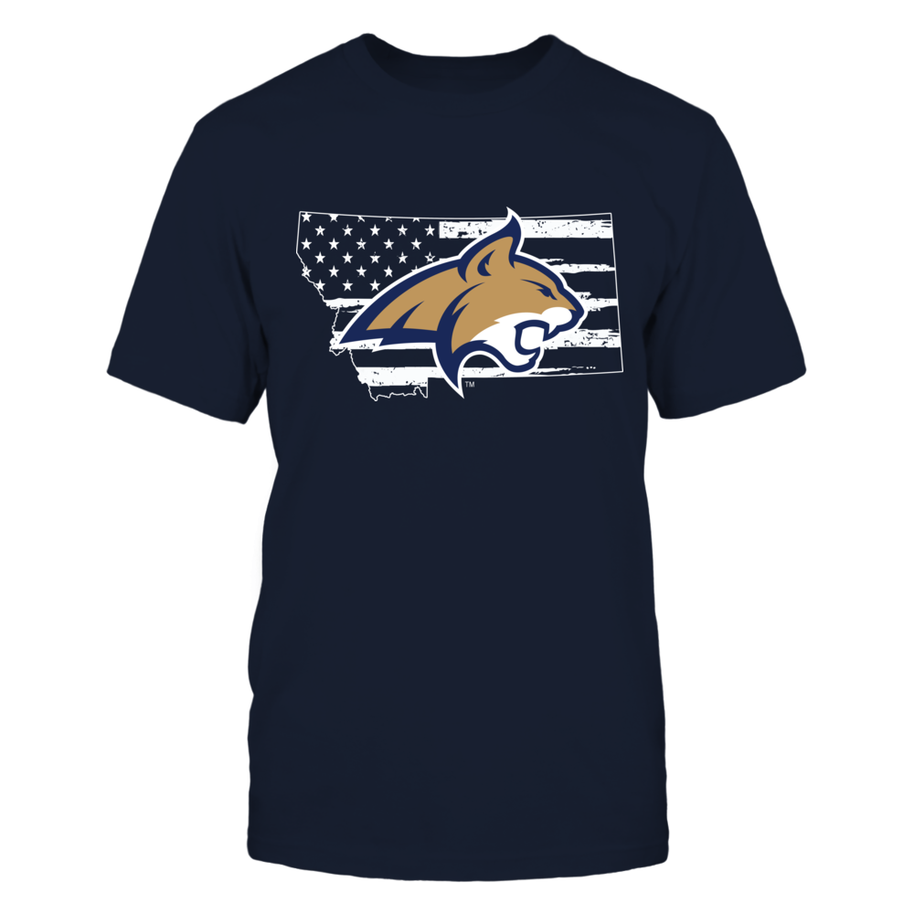 Montana State Bobcats - Logo State - Nation Flag Front picture