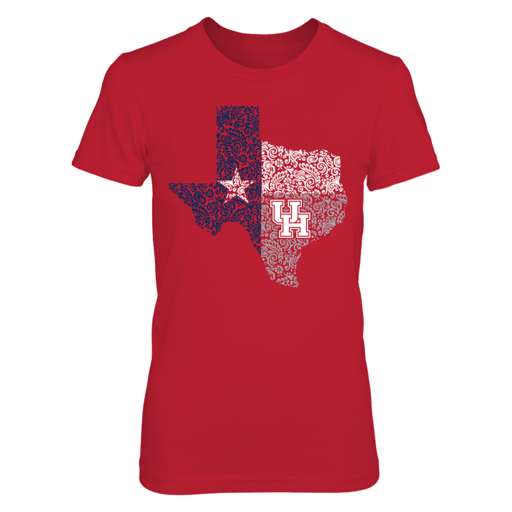 Houston Cougars - Paisley State Flag Front picture