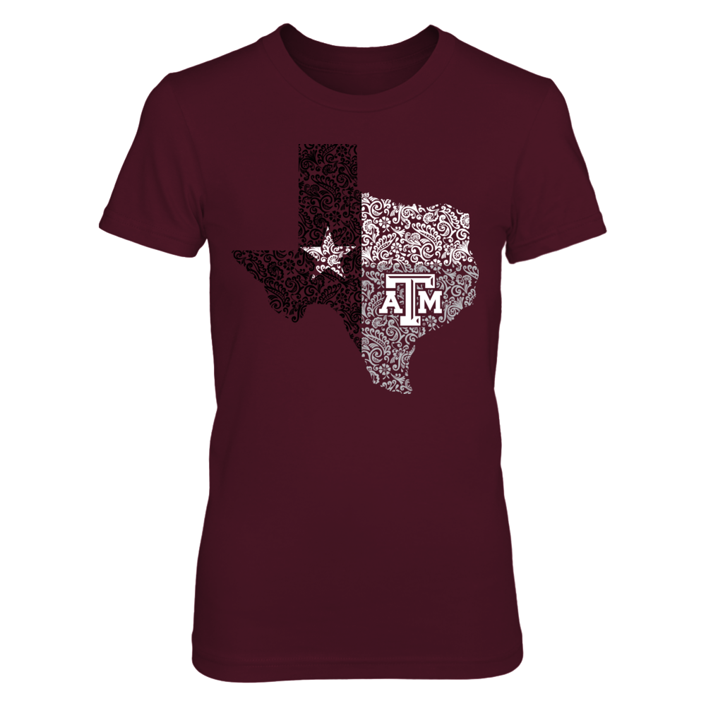Texas A&M Aggies - Paisley State Flag Front picture