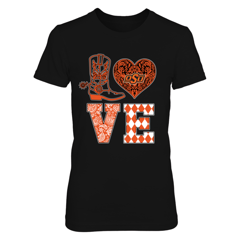 Oklahoma State Cowboys - Love Boot Lace Heart Front picture