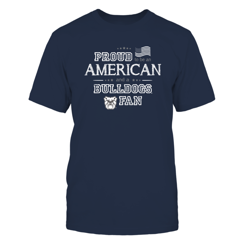 Proud American Butler Bulldogs Fan Shirt Front picture