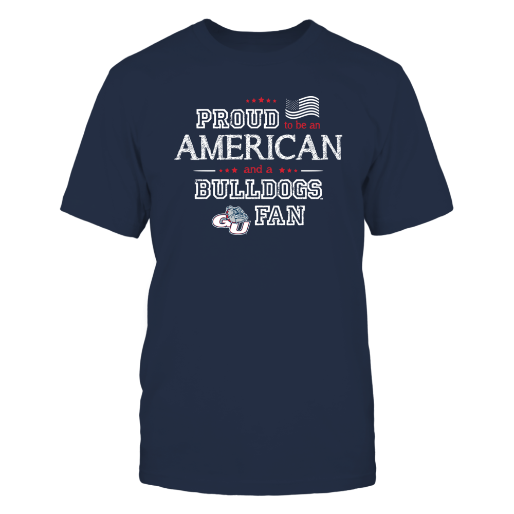Proud American Gonzaga Bulldogs Fan Shirt Front picture