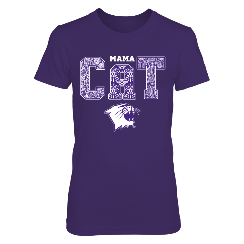 Northwestern Wildcats - Mama Pattern Animal Front picture