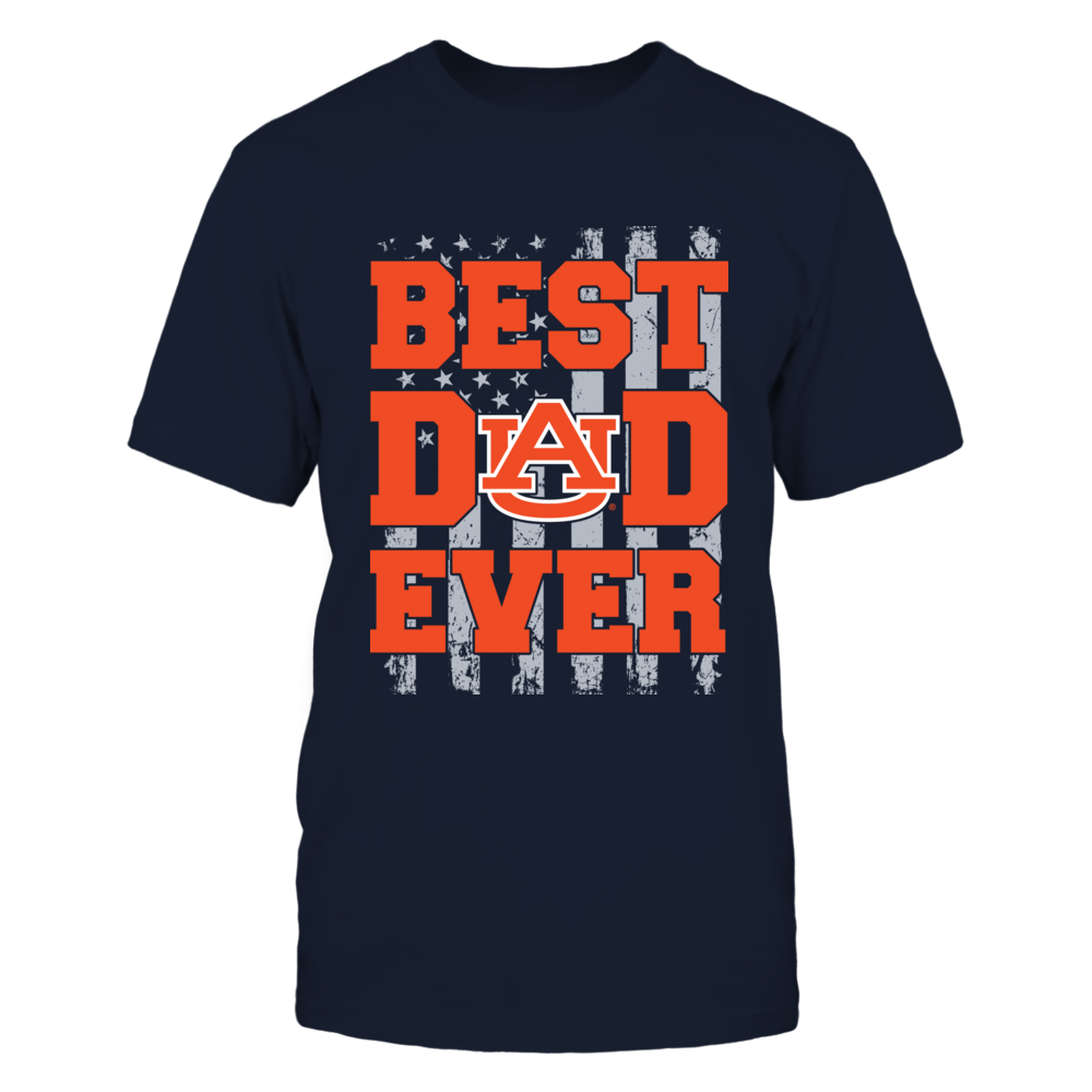 Auburn Tigers - Best Dad Ever - Nation Flag Front picture