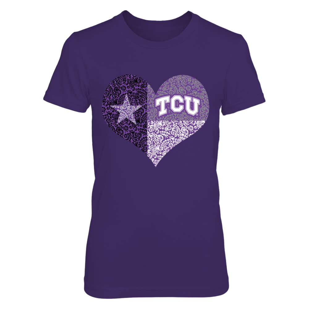 TCU Horned Frogs - Paisley State Flag Heart Front picture