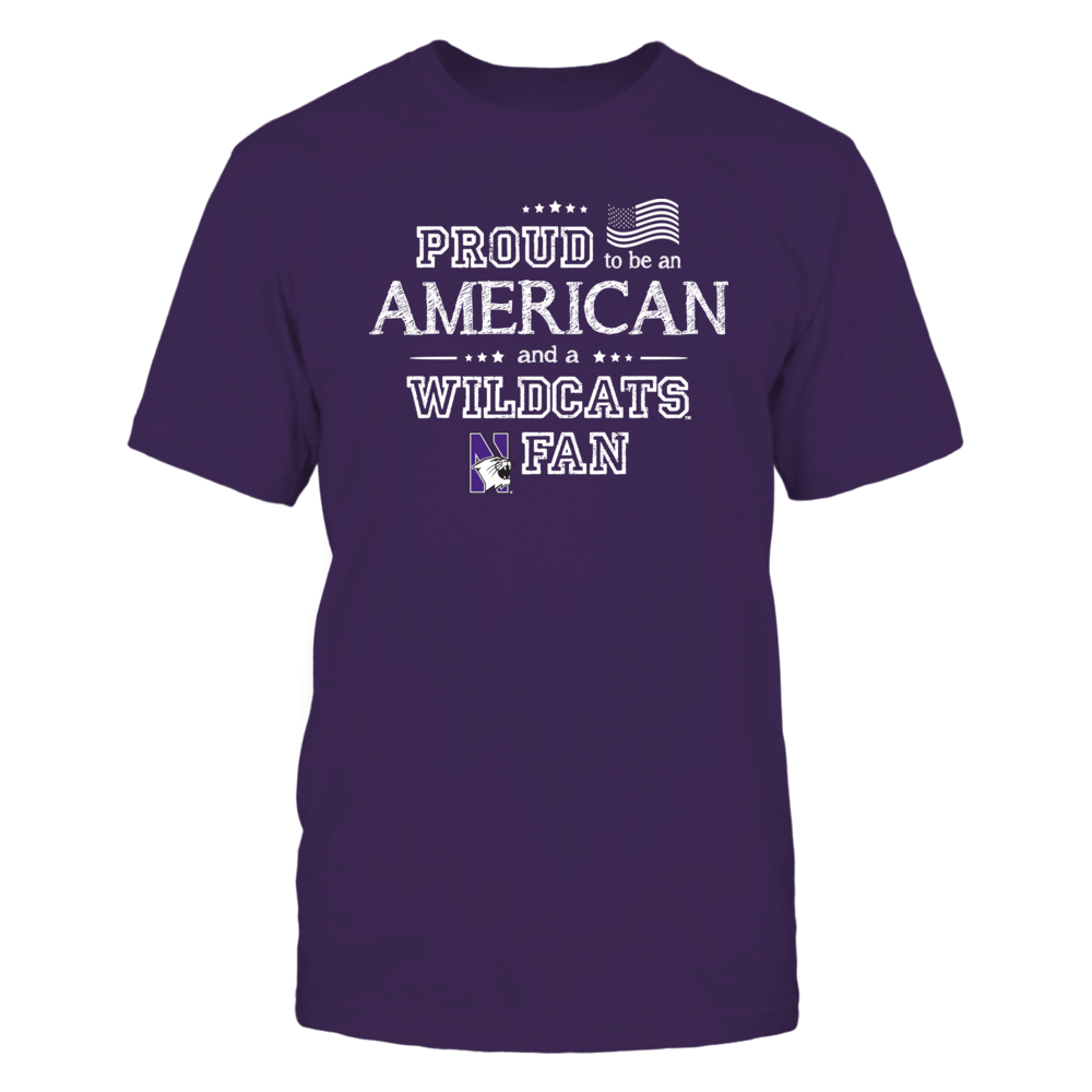 Proud American Northwestern Wildcats Fan Shirt Front picture