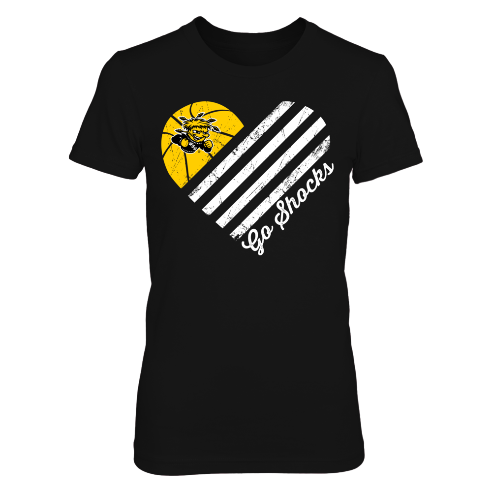 Wichita State Shockers - Basketball Flag Heart Front picture