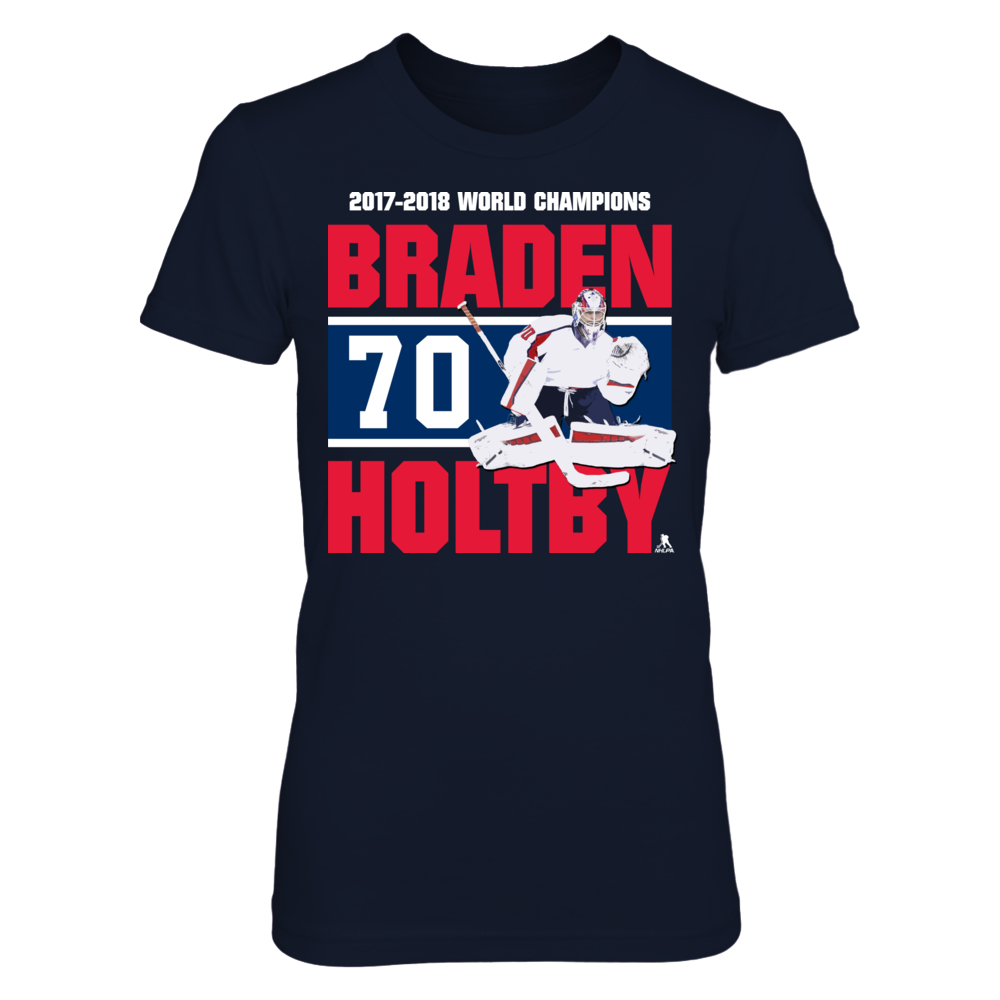 Braden Holtby - Player Number - World Champions Front picture