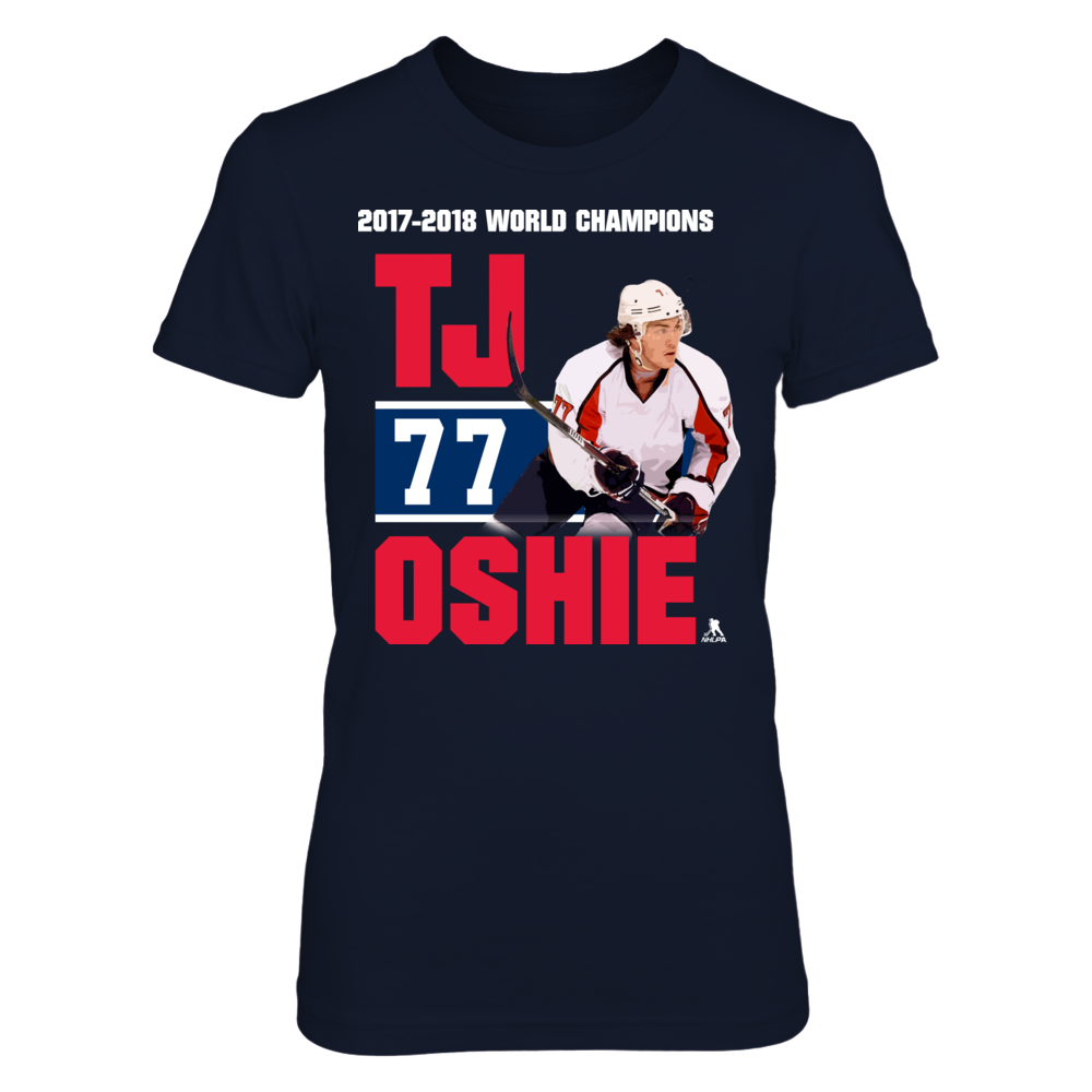 TJ Oshie - Player Number - World Champions Front picture