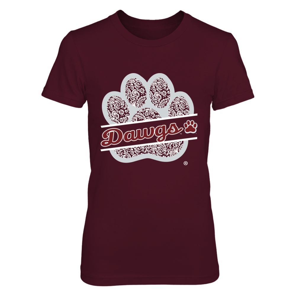 Mississippi State Bulldogs - Floral Paw Print Front picture