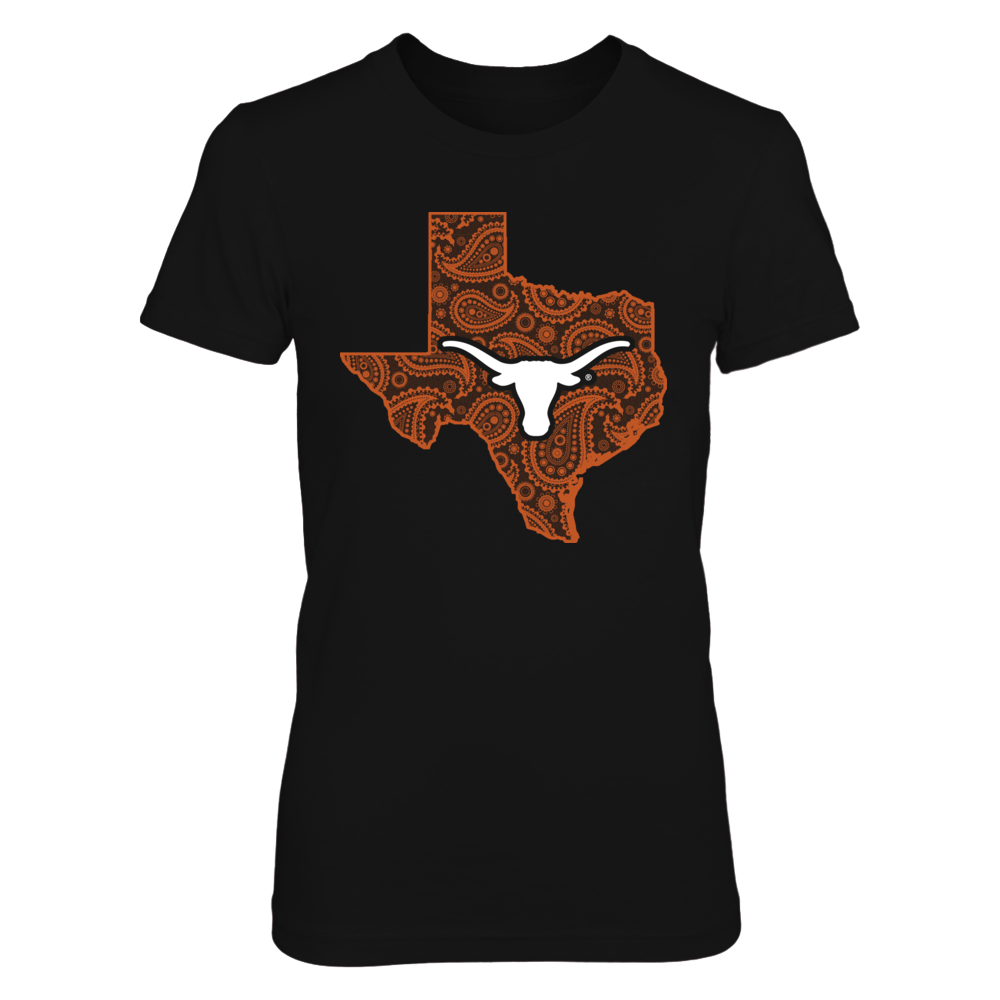 Texas Longhorns - Paisley State Map Front picture