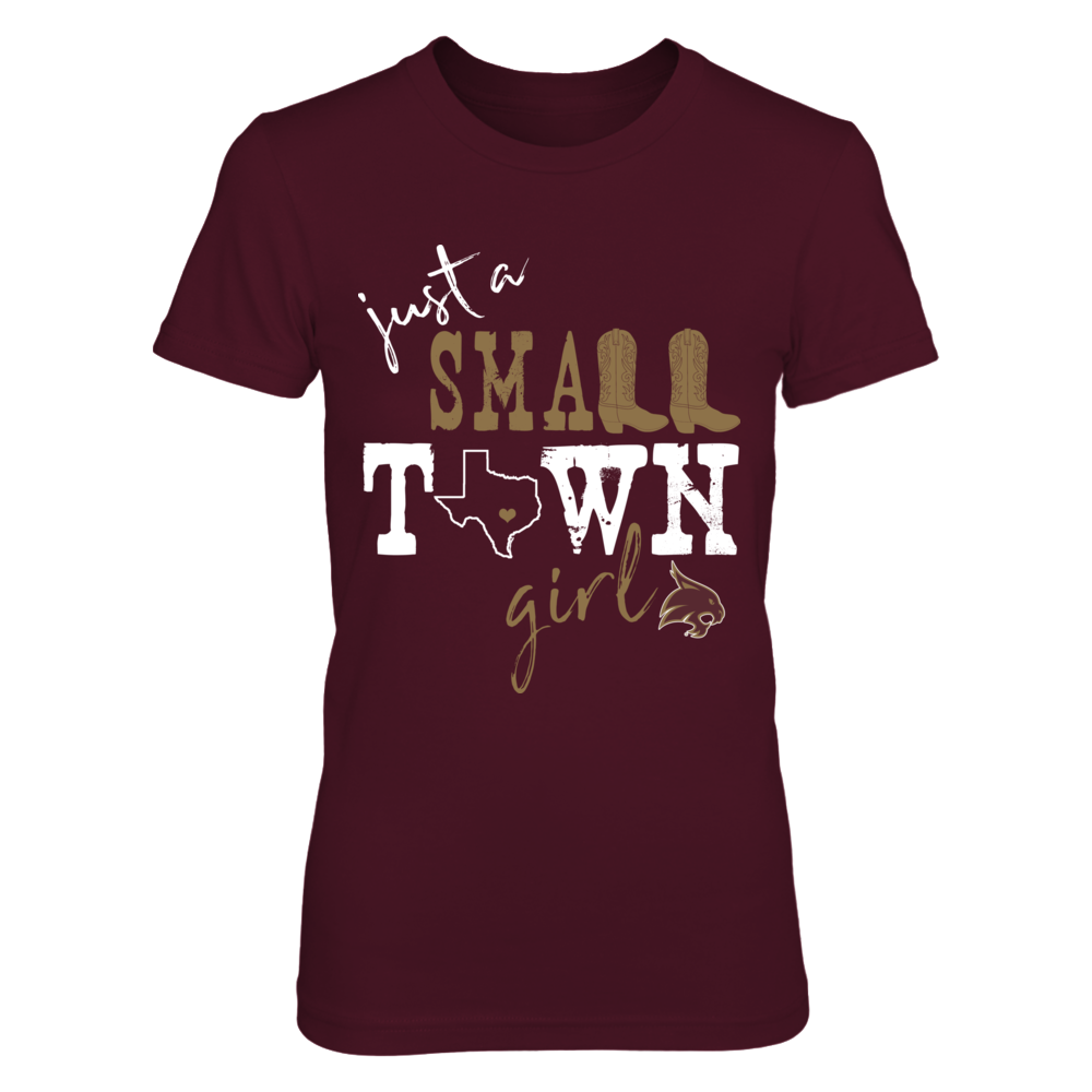 Texas State Bobcats - Small Town Girl - State Outline Front picture