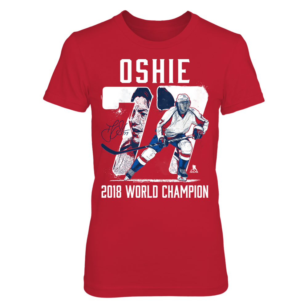 TJ Oshie - Player Number - 2018 World Champion Front picture