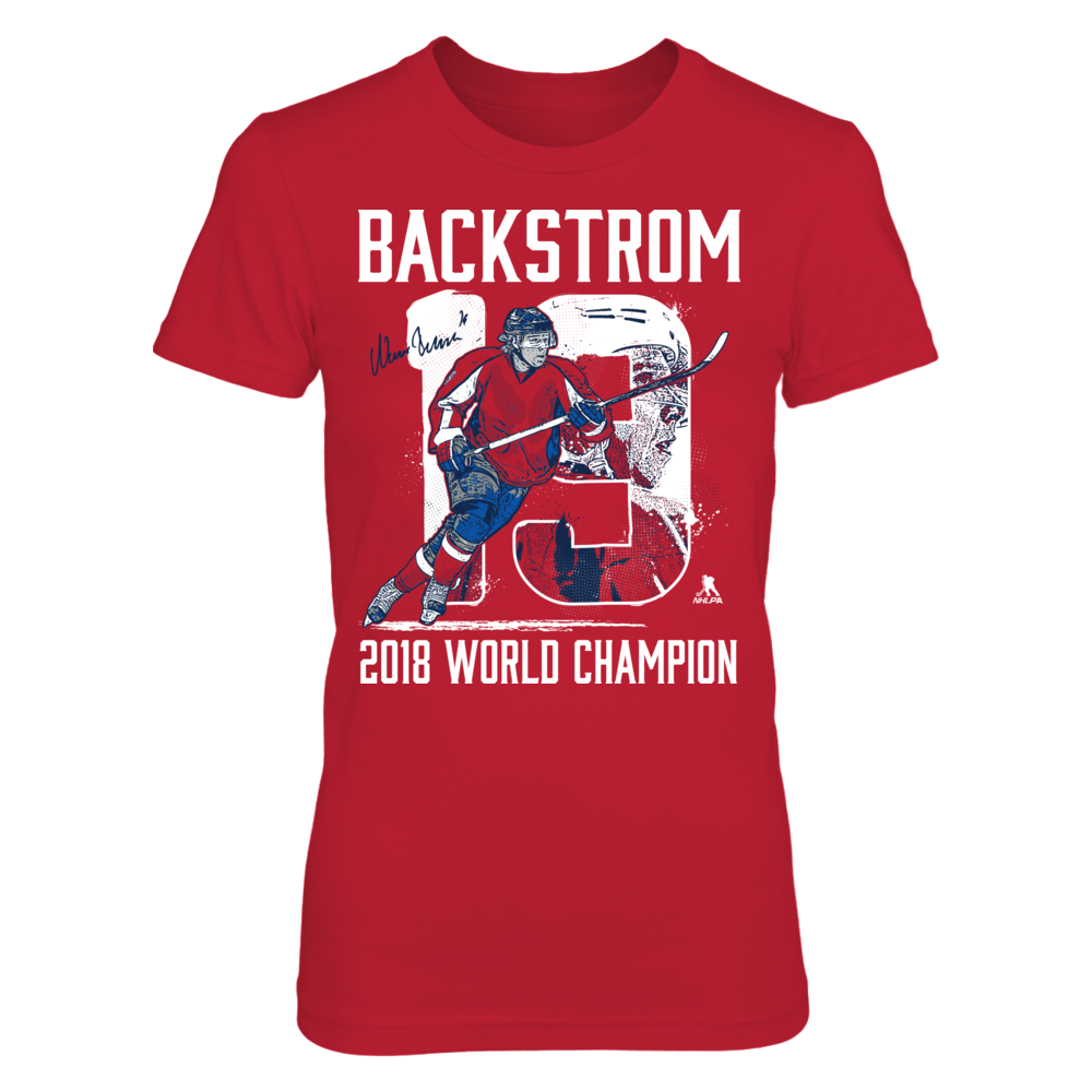 Nicklas Backstrom - Player Number - 2018 World Champion Front picture