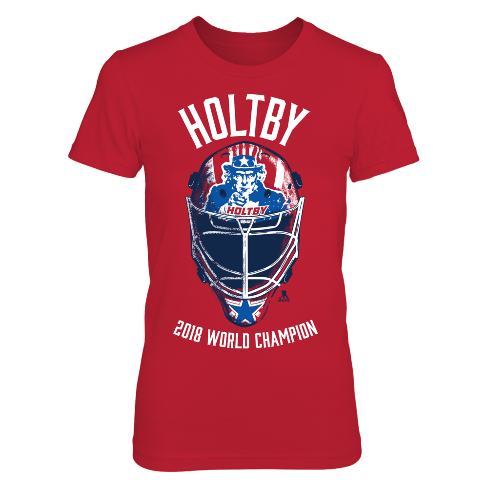 Braden Holtby - 2018 World Champion Helmet Front picture