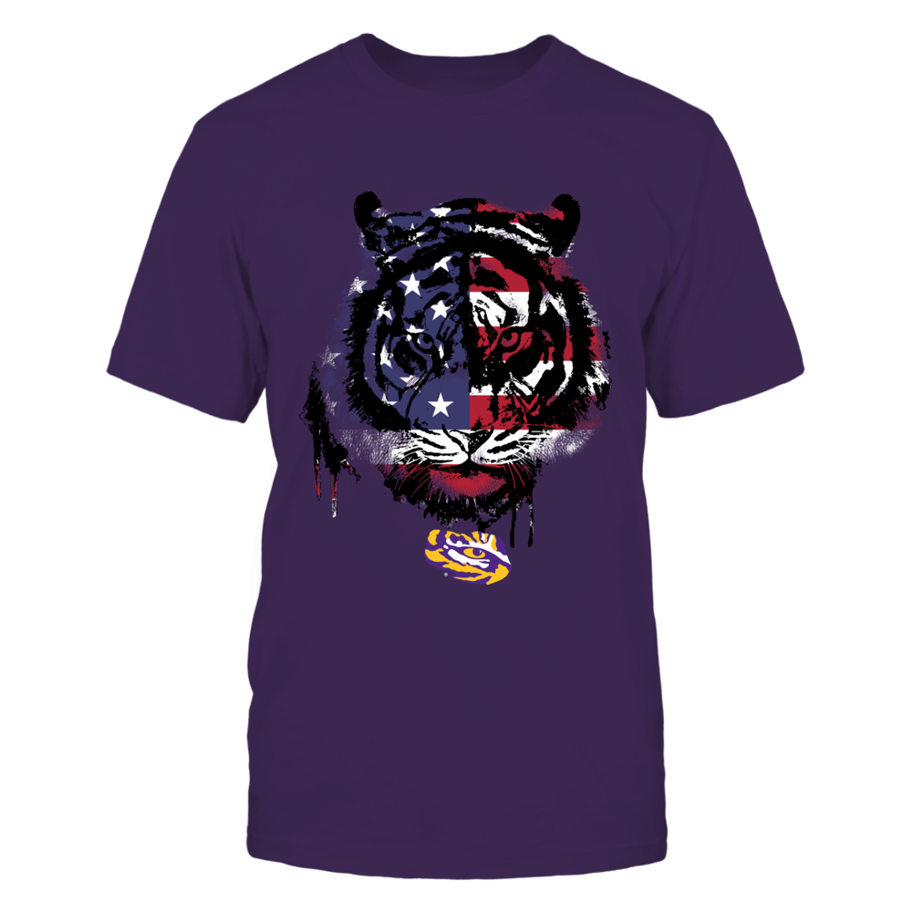 LSU Tigers -  Flag Tiger Patriotic Front picture