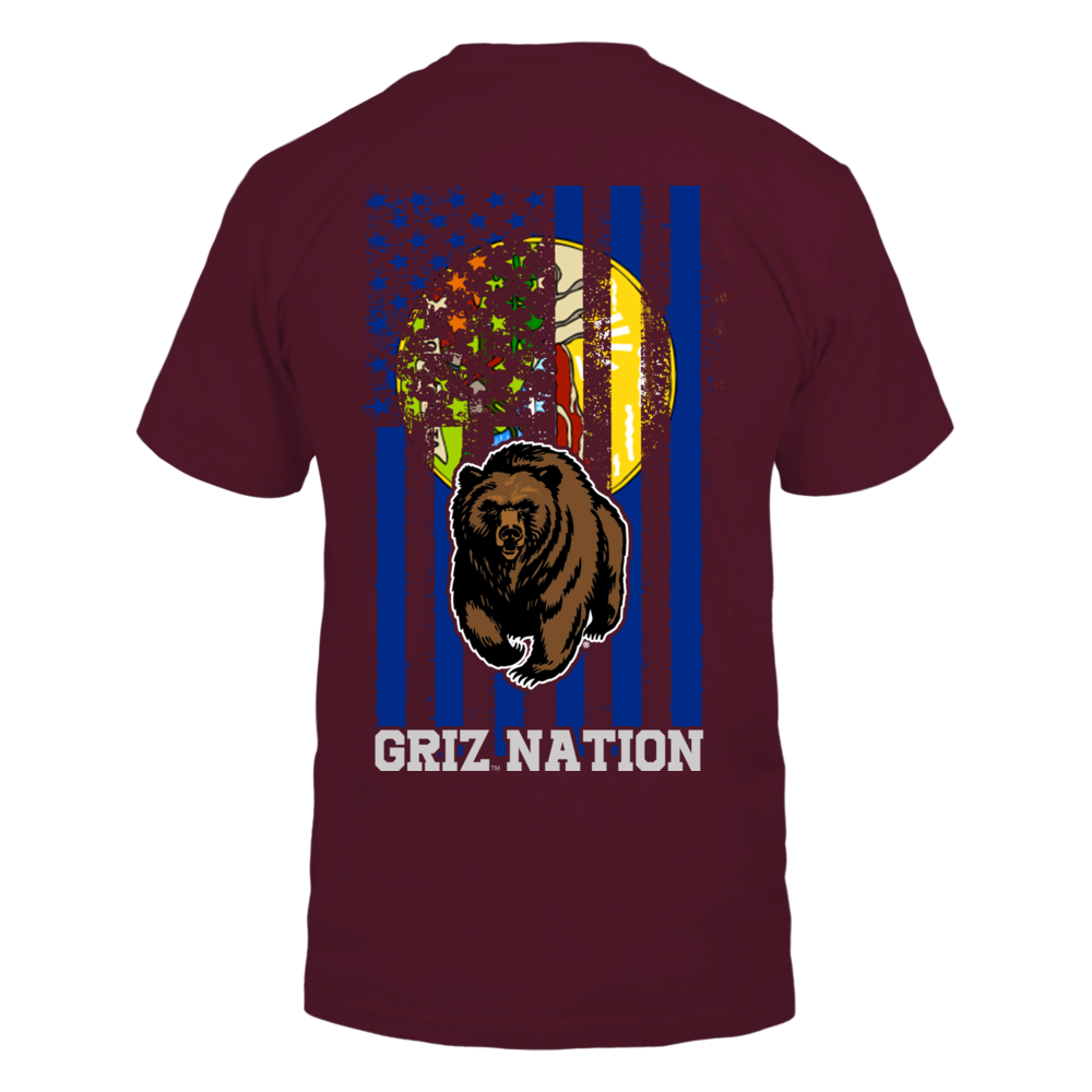 Montana Grizzlies - State Flag Nation Back picture