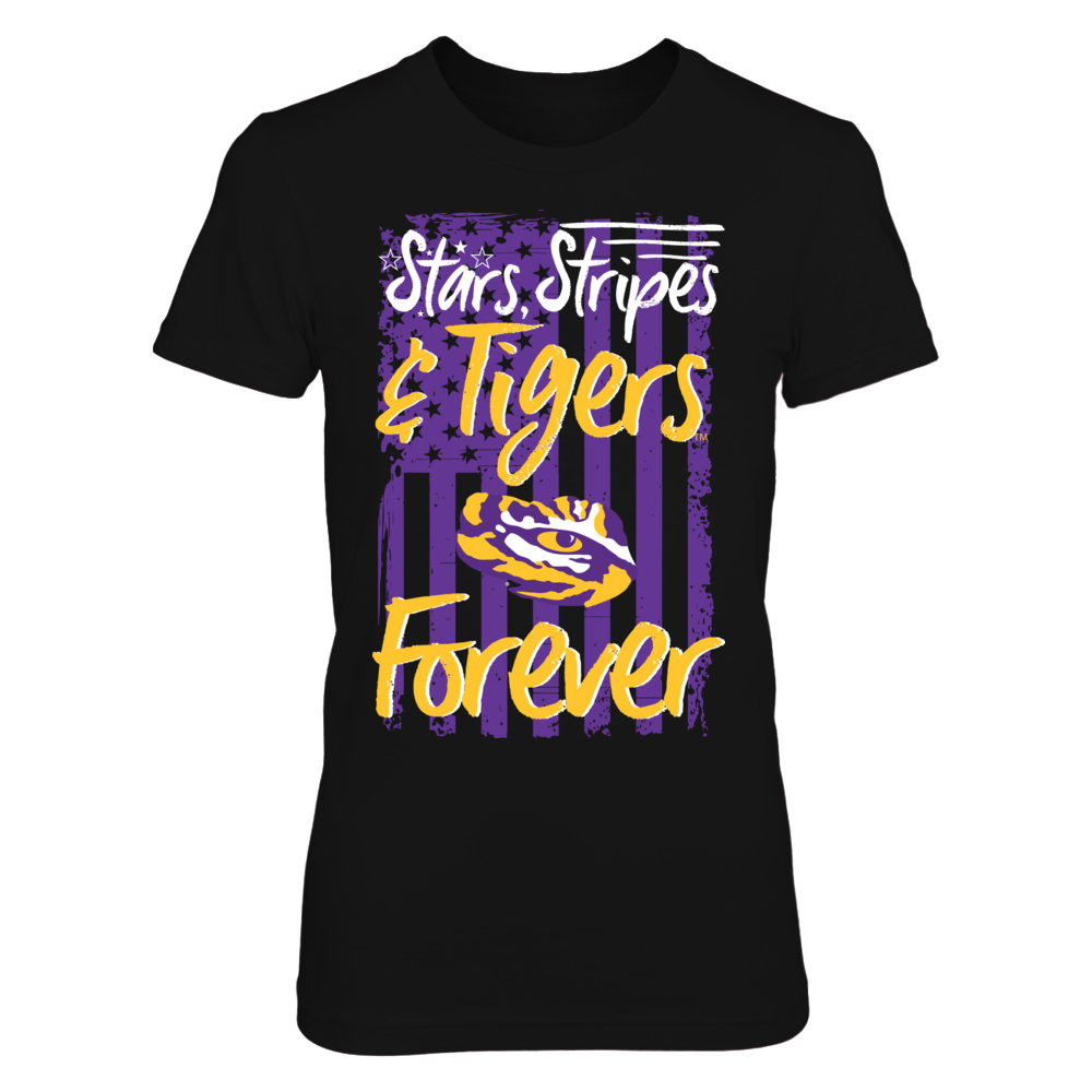 LSU Tigers - Stars Stripes And Tigers Forever Front picture