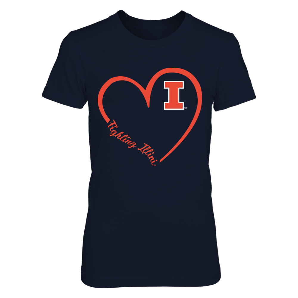 Illinois Fighting Illini - Heart 3/4 Front picture