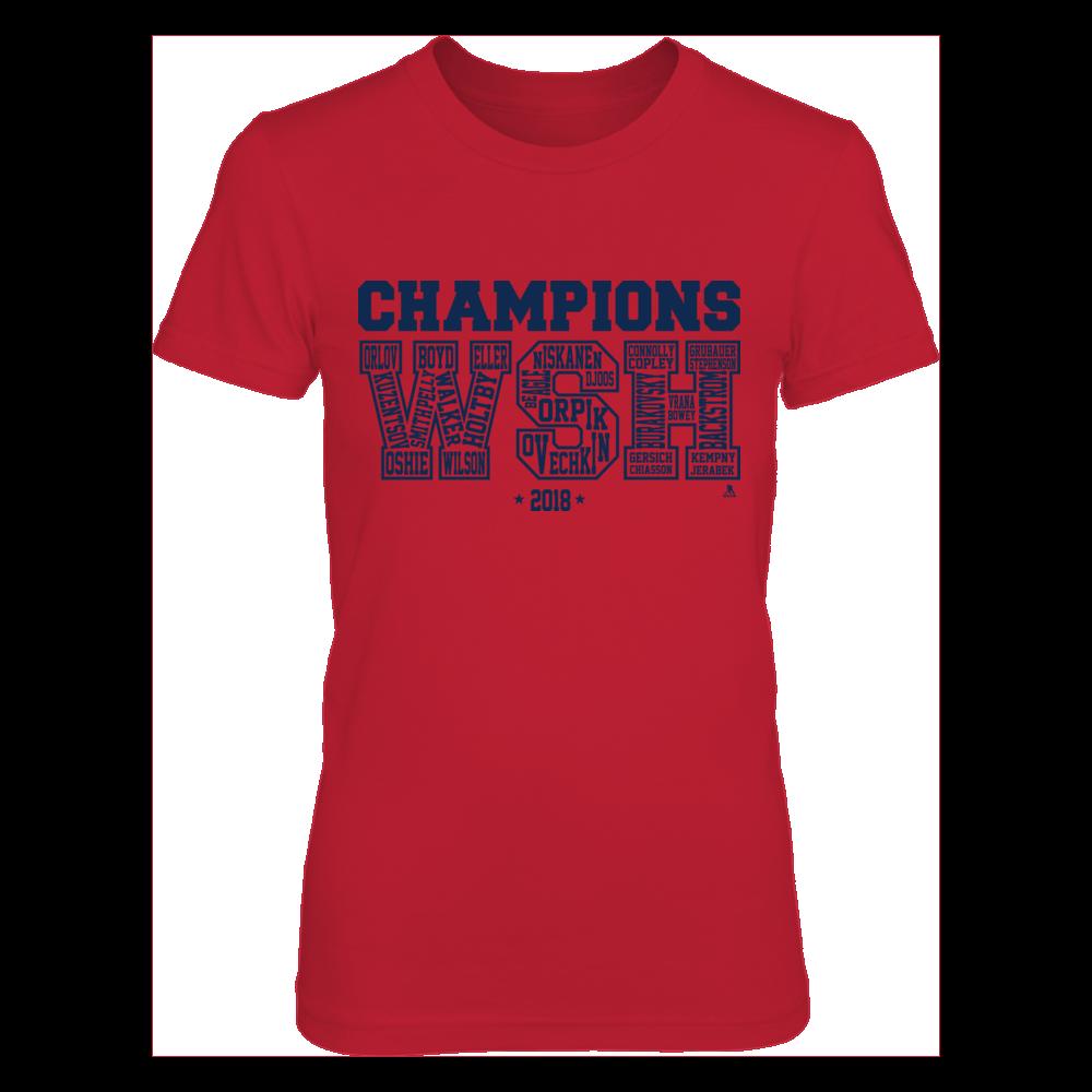 TJ Oshie - Champions WSH Bubble Letters Front picture