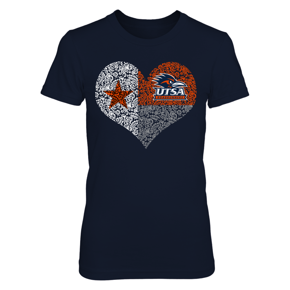 UTSA Roadrunners - Texas Flag Heart Front picture