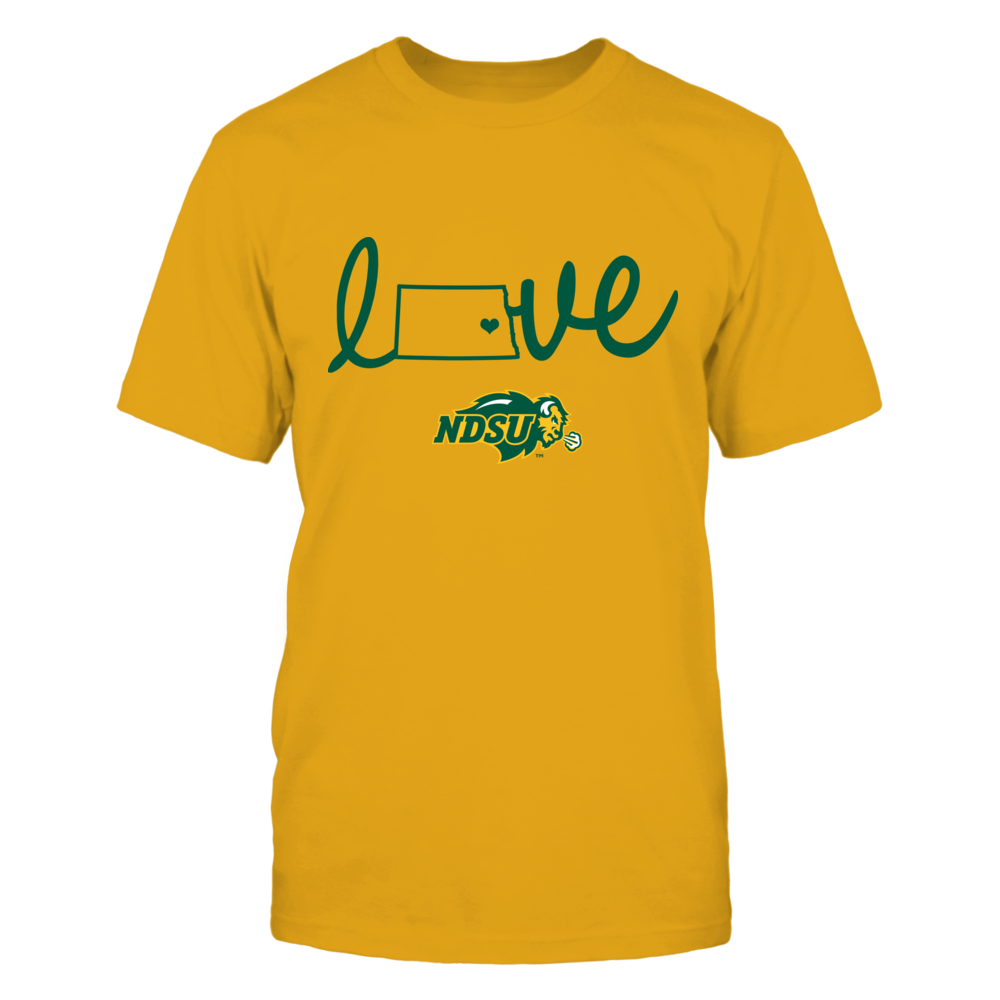 North Dakota State Bison - State Love - Yellow Shirt Front picture