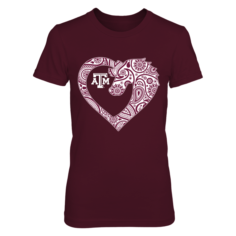 Texas A&M Aggies - Paisley Heart Animal Front picture