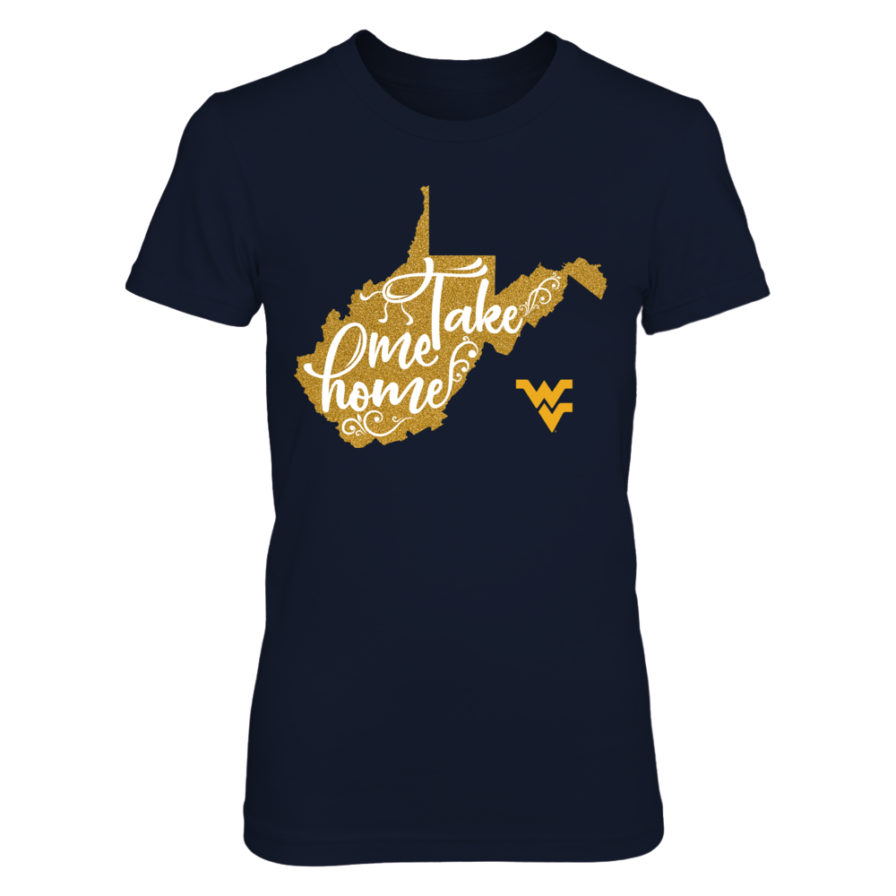 West Virginia Mountaineers - Take me home glitter state Front picture