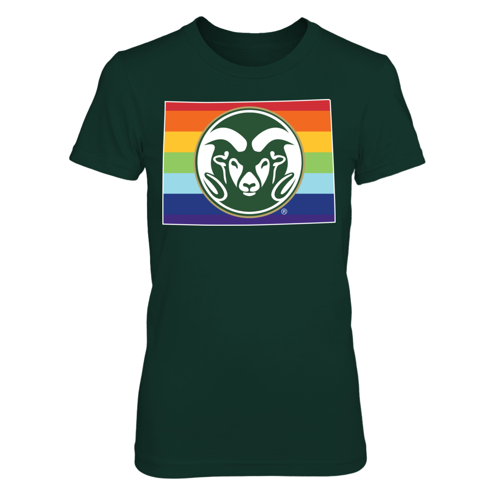 Pride Month Logo - Colorado State Rams Front picture