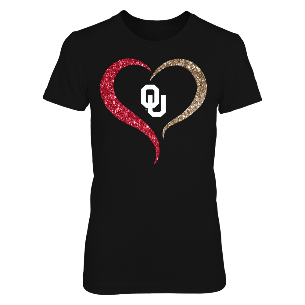 Oklahoma Sooners - Half Heart - Sparkle Front picture