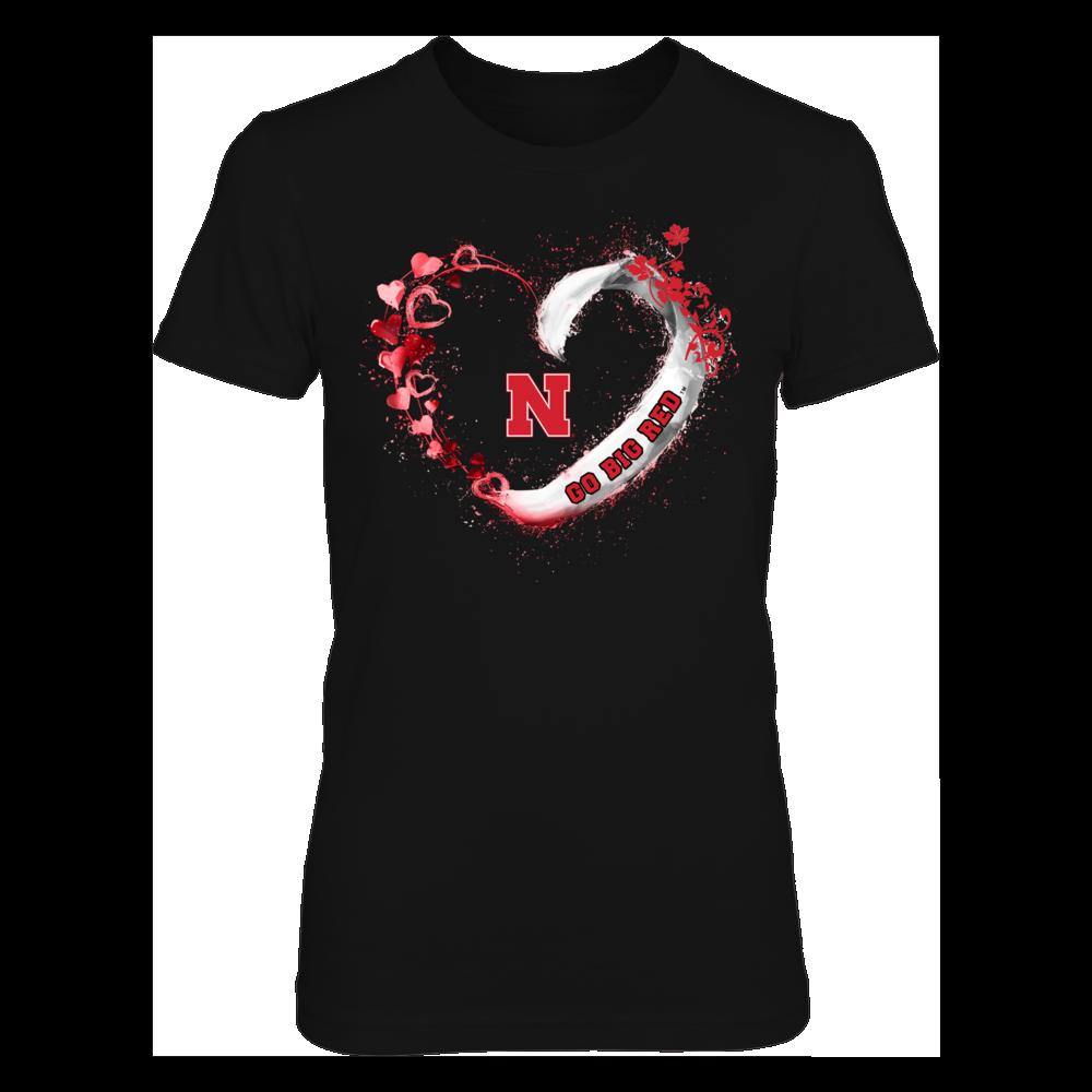 Nebraska Cornhuskers - Beautiful heart - IF-IC13-DS75 Front picture