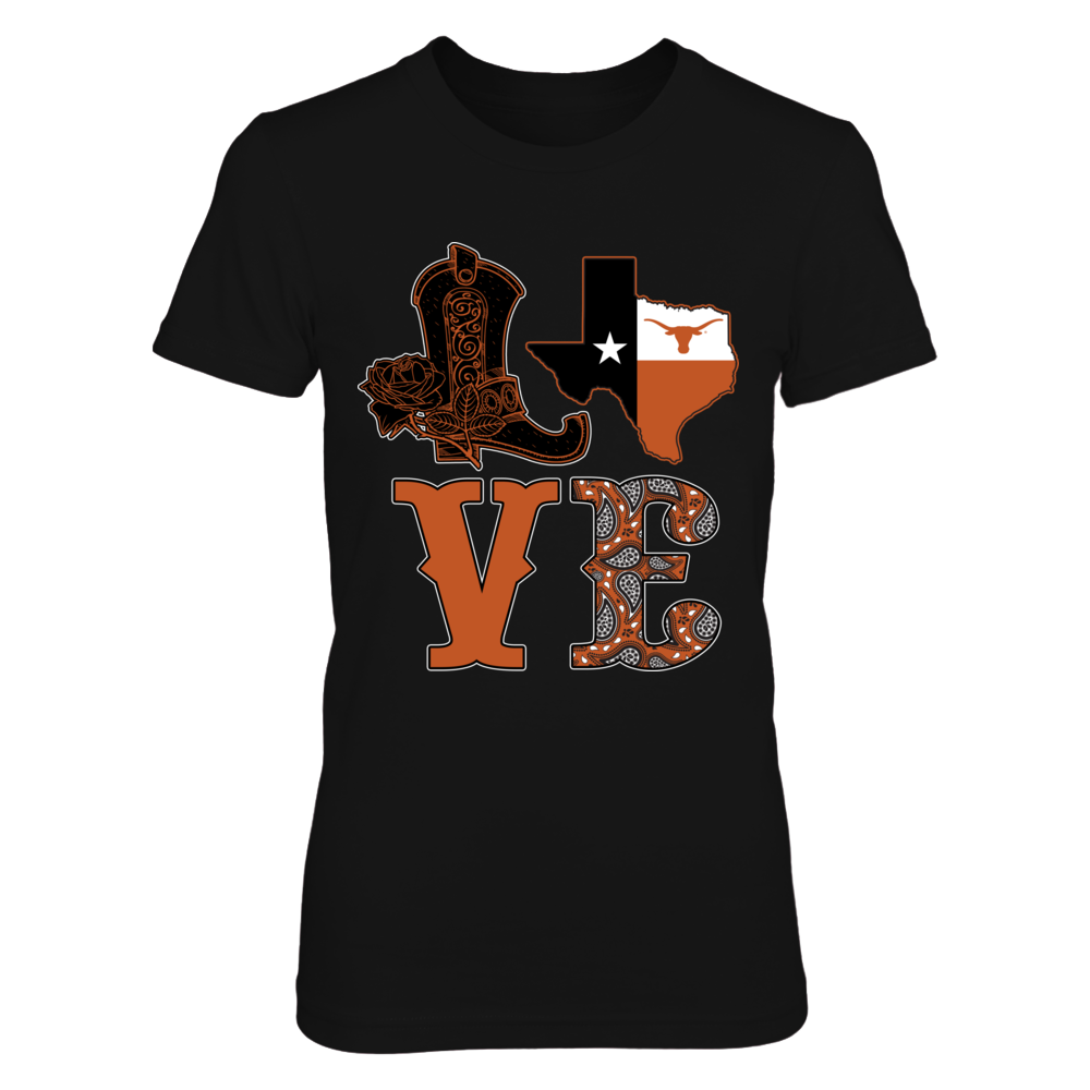 Texas Longhorns - Stacked love boot Front picture