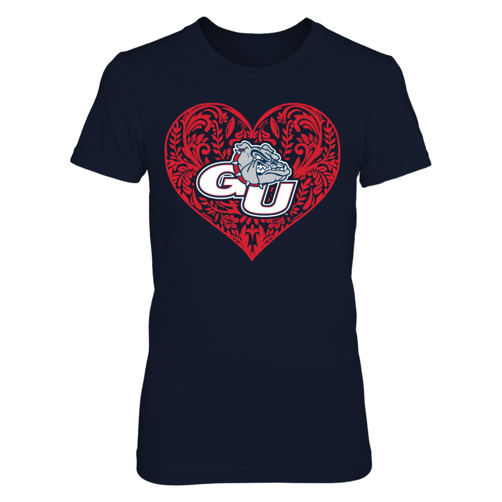 Gonzaga Bulldogs - Pattern Heart Logo Front picture
