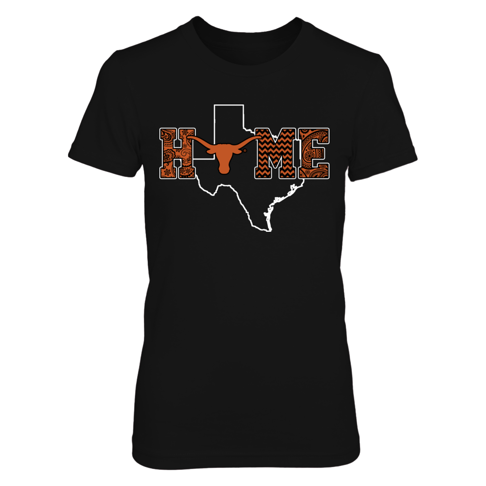 Texas Longhorns - Pattern home with state outline Front picture