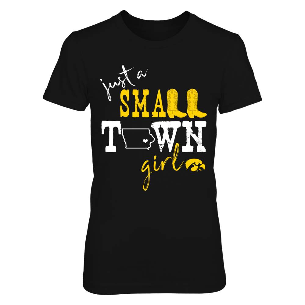 Iowa Hawkeyes - Small Town Girl - State Outline - IF-IC78-DS27 Front picture