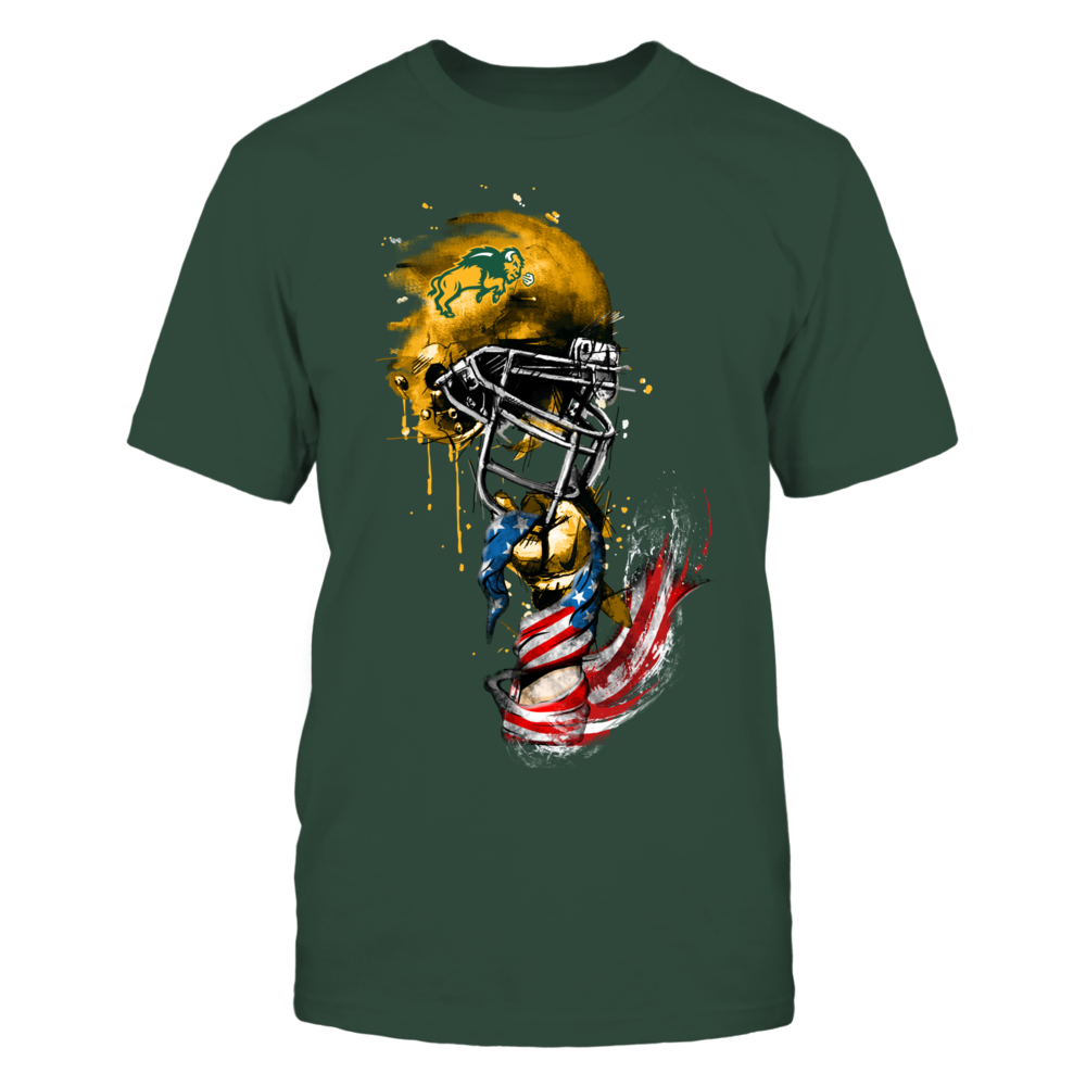 North Dakota State Bison - Rising helmet flag - IF-IC17-DS27 Front picture