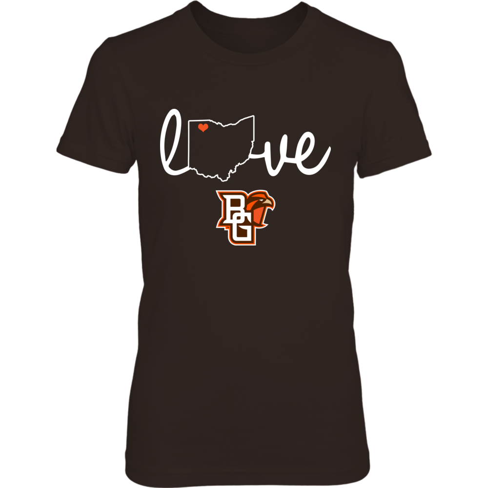 Bowling Green Falcons - State Love - Brown Shirt Front picture