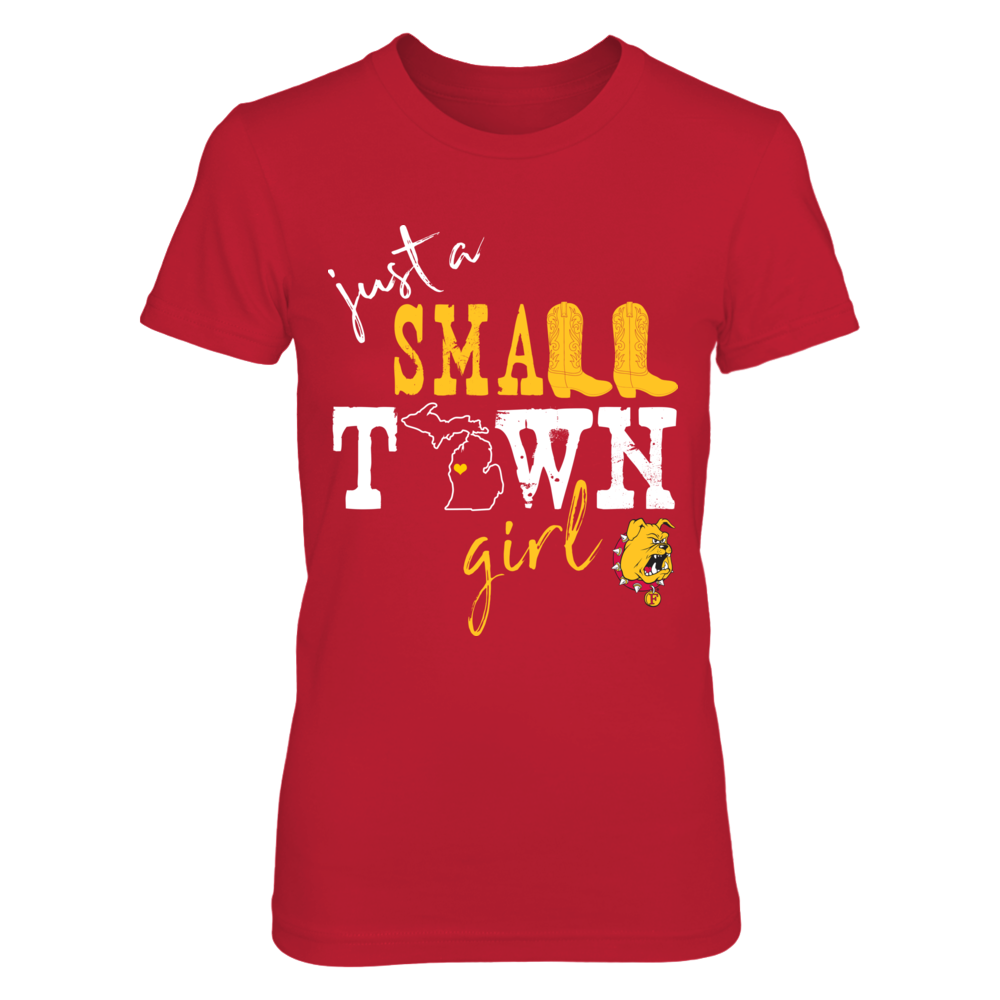 Ferris State Bulldogs - Small town girl - State Outline Front picture
