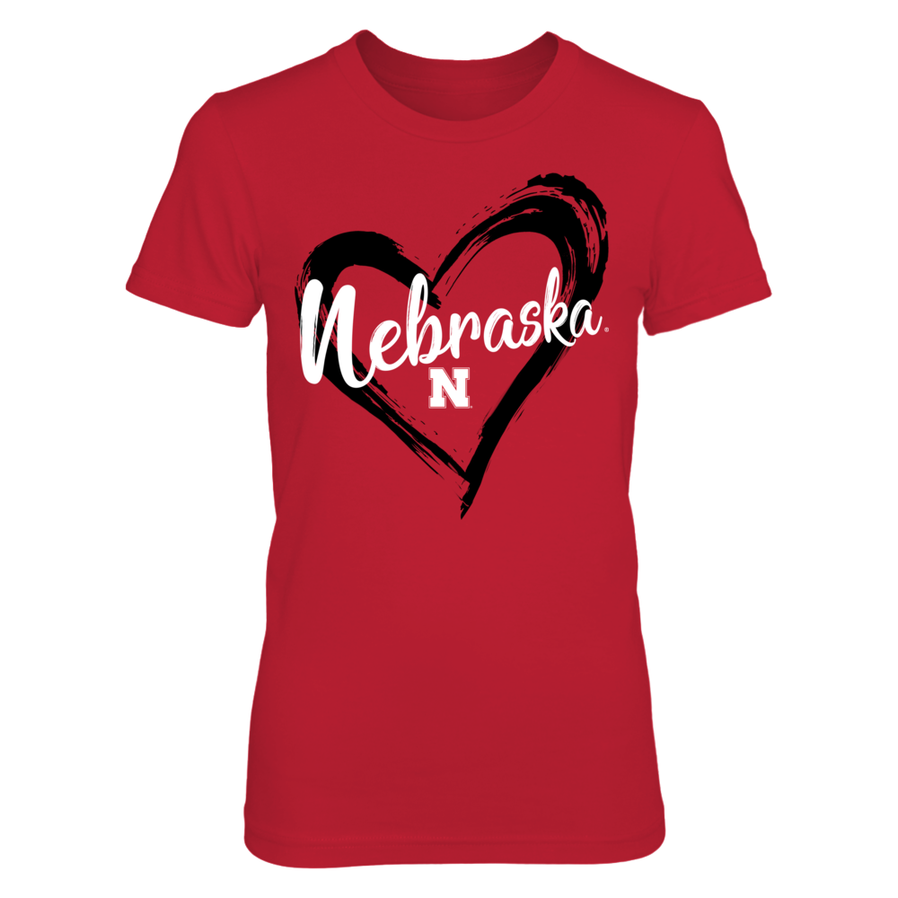 Nebraska Cornhuskers - Drawing heart - Red shirt - IF-IC13-DS33 Front picture